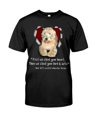 Soft-coated Wheaten Terrier-Torn Paper Heart