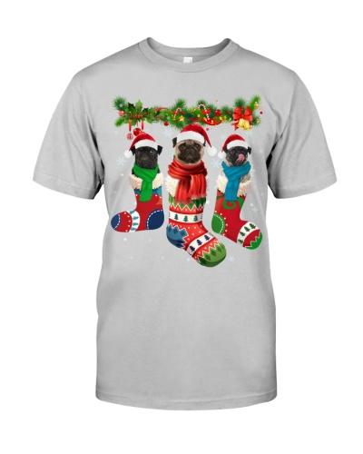Pug-Christmas Sock