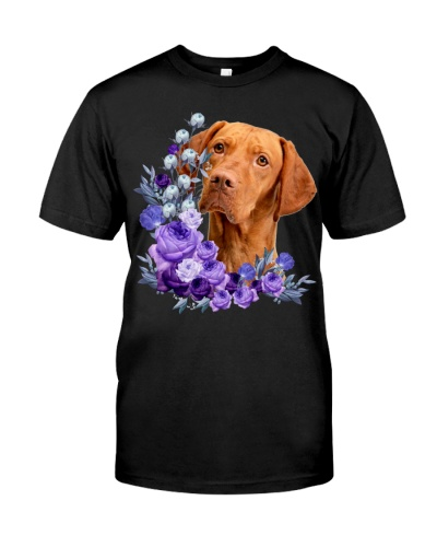 Vizsla-Purple Flower Stems