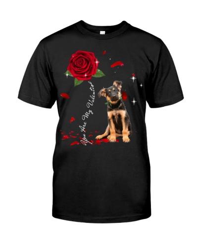 German Shepherd is My Valentine-Rose