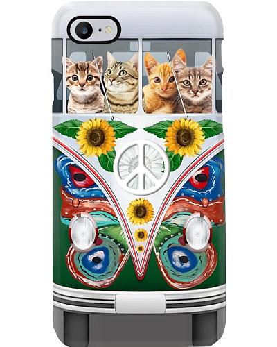 Cat Hippie Bus