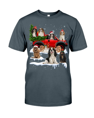 Cavalier King Charles Spaniel-Christmas Car