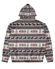 Indian Men's All Over Print Hoodie back