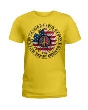 AMERICA-GOOD GIRL Ladies T-Shirt thumbnail