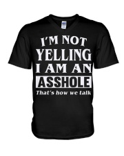 ASHOLE-YELLING V-Neck T-Shirt thumbnail