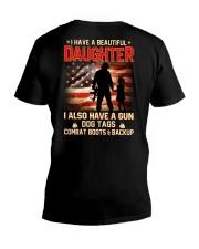 BEAUTIFUL DAUGHTER- V-Neck T-Shirt thumbnail