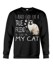 ASKED TRUE FRIEND-CAT Crewneck Sweatshirt thumbnail