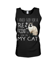 ASKED TRUE FRIEND-CAT Unisex Tank thumbnail