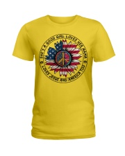 i want sun flower-GOOD GIRL Ladies T-Shirt thumbnail