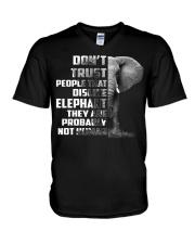 DONT TRUST DISLIKE-ELEPHANT V-Neck T-Shirt thumbnail