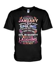 MONTH GIRL-1 V-Neck T-Shirt thumbnail