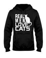 REAL MEN LOVE CATS Hooded Sweatshirt front
