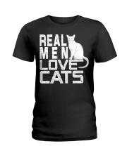 REAL MEN LOVE CATS Ladies T-Shirt thumbnail