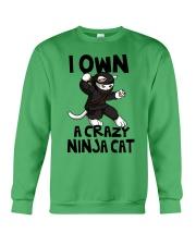 CRAZY NINJA CAT Crewneck Sweatshirt thumbnail