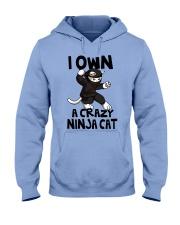 CRAZY NINJA CAT Hooded Sweatshirt thumbnail