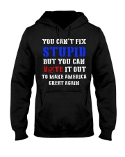 CAN'T FIX STUPID Hooded Sweatshirt front