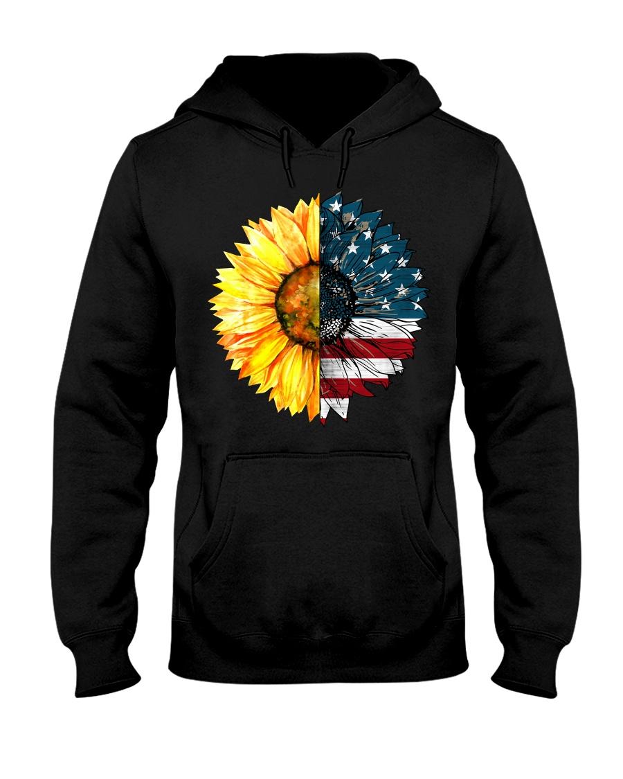 FLAG-SUN FLOWER Hooded Sweatshirt