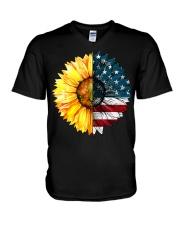 FLAG-SUN FLOWER V-Neck T-Shirt thumbnail