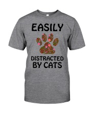 EASILY DISTRACTED BY CATS Classic T-Shirt front
