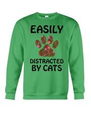 EASILY DISTRACTED BY CATS Crewneck Sweatshirt thumbnail