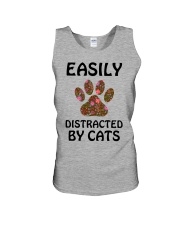 EASILY DISTRACTED BY CATS Unisex Tank thumbnail