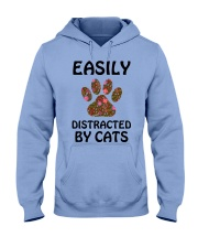 EASILY DISTRACTED BY CATS Hooded Sweatshirt thumbnail