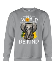 IN A WORLD BE KIND- ELEPHANT Crewneck Sweatshirt thumbnail