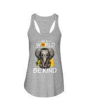 IN A WORLD BE KIND- ELEPHANT Ladies Flowy Tank thumbnail