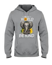IN A WORLD BE KIND- ELEPHANT Hooded Sweatshirt thumbnail