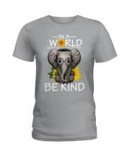 IN A WORLD BE KIND- ELEPHANT Ladies T-Shirt thumbnail