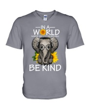 IN A WORLD BE KIND- ELEPHANT V-Neck T-Shirt thumbnail