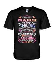MONTH GIRL-3 V-Neck T-Shirt thumbnail