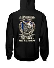 Virginia VETERAN Hooded Sweatshirt back