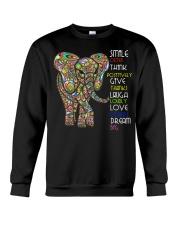 SMILE OFTEN-ELEPHANT Crewneck Sweatshirt thumbnail