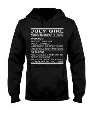 GIRL ACTIVE-7 Hooded Sweatshirt front