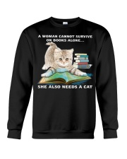 SHE NEEDS A CAT Crewneck Sweatshirt thumbnail