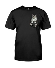 CAT IN THE POCKET Classic T-Shirt front