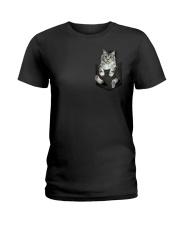 CAT IN THE POCKET Ladies T-Shirt thumbnail