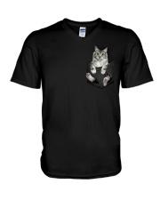 CAT IN THE POCKET V-Neck T-Shirt thumbnail