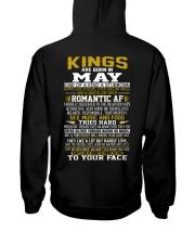 KING BORN IN-MAY Hooded Sweatshirt back