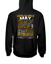 LEGENDS BORN-GUY-5 Hooded Sweatshirt back