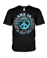 PEACE GIRL-4 V-Neck T-Shirt thumbnail