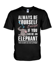 YOU CAN BE-ELEPHANT V-Neck T-Shirt tile