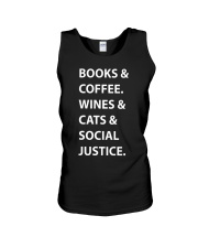 BOOKS AND COFFEE - WINES AND CATS Unisex Tank thumbnail