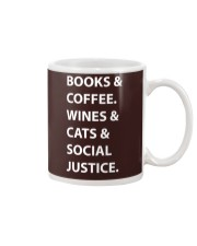 BOOKS AND COFFEE - WINES AND CATS Mug thumbnail