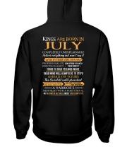 KING BORN US-7 Hooded Sweatshirt back