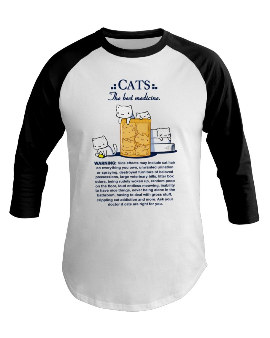 CATS - THE BEST MEDICINE Baseball Tee