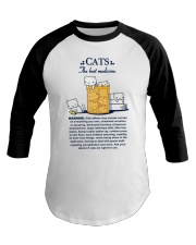 CATS - THE BEST MEDICINE Baseball Tee front