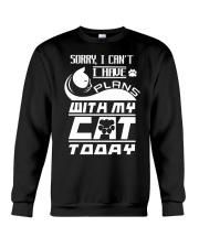 PLANS WITH MY CAT Crewneck Sweatshirt thumbnail
