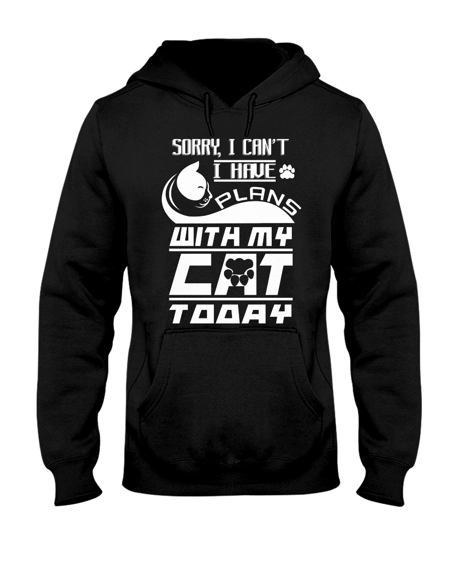 PLANS WITH MY CAT Hooded Sweatshirt